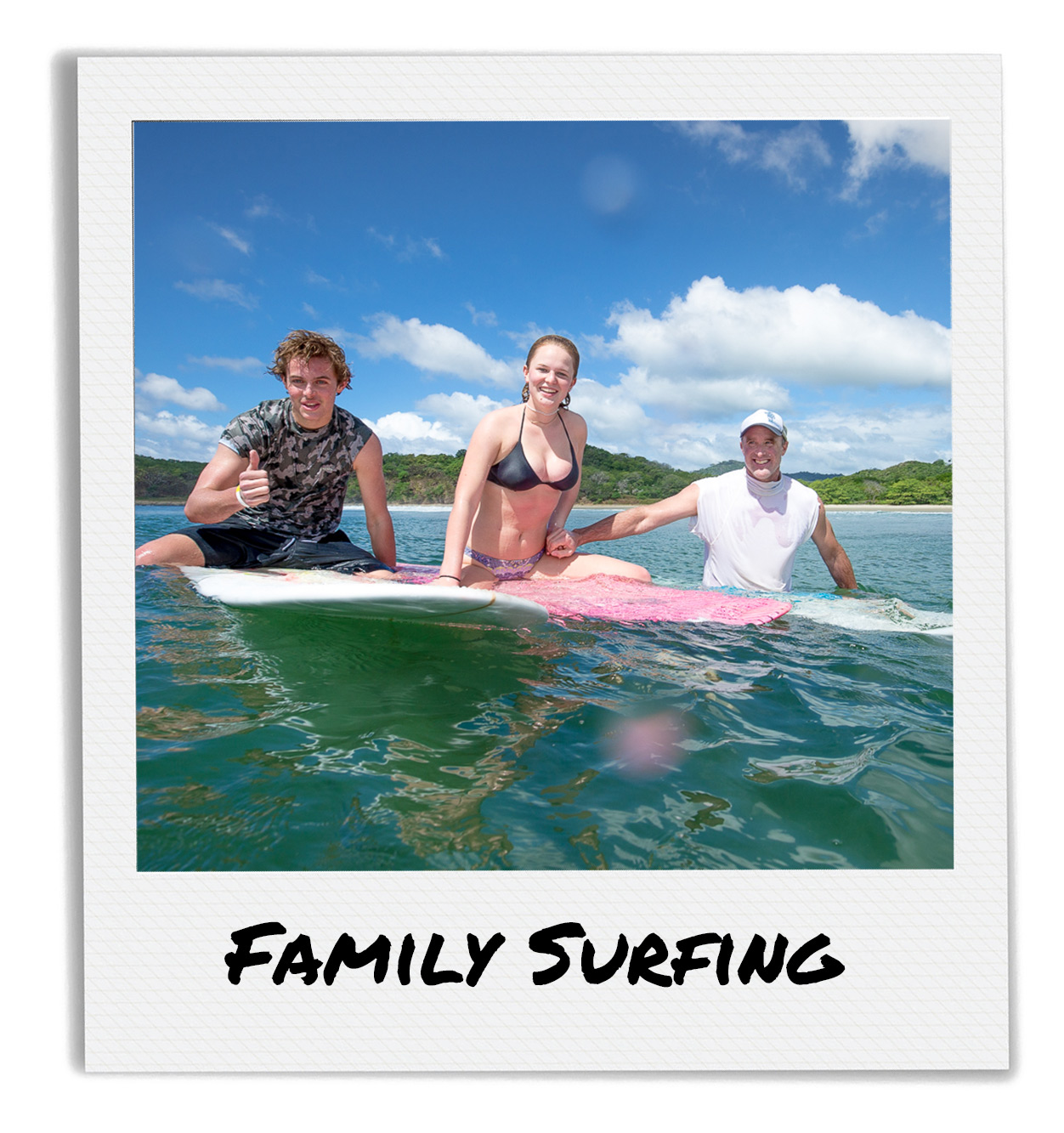 Family Surfing in San Juan Del Sur
