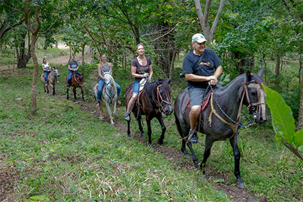 Family Horseback Riding at Finca Las Nubes